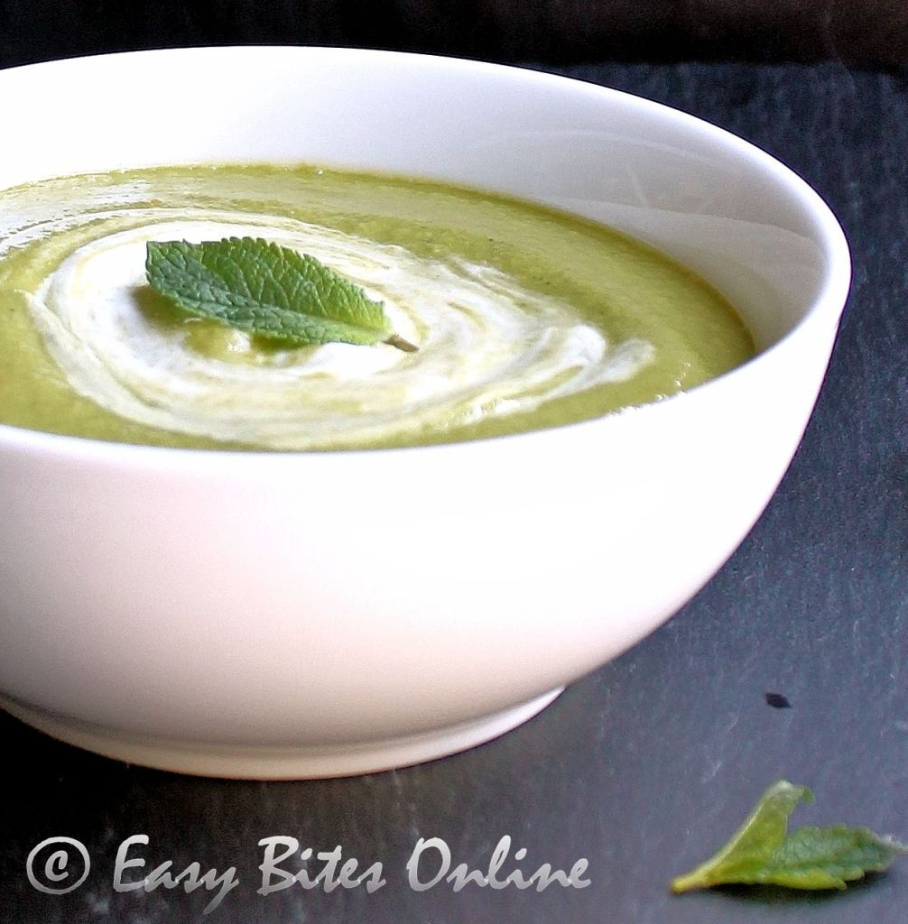 cucumber mint gazpacho with lemon