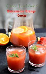 Green Tea Infused Watermelon Orange Cooler