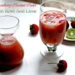 Strawberry Coconut Cooler With Kiwi And Lime