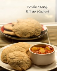 whole mung baked kachori