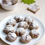 Eggless Ragi Crinkle Cookies With Cranberries