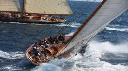 Classic sailboat royal regatta cannes