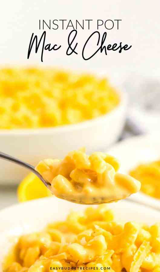 Creamy Mac and Cheese on a spoon.