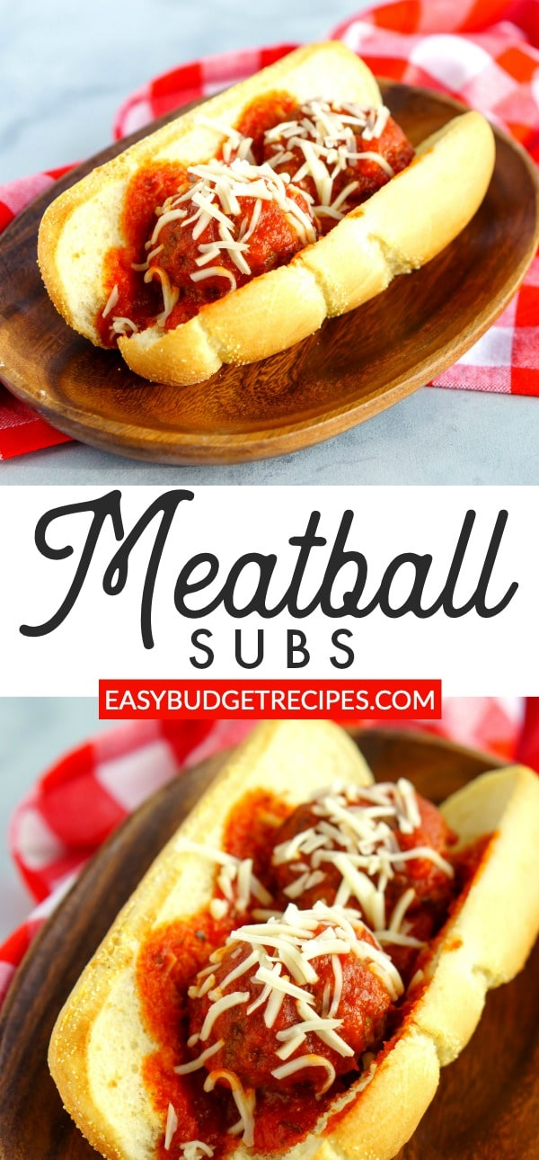 These meatball subs are some serious comfort food! The recipe serves 6 people and costs just $9.33 to make and $1.56 per serving!  via @easybudgetrecipes