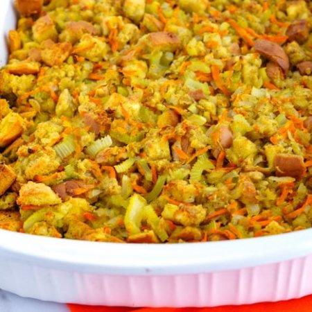 Large-batch stuffing recipe.