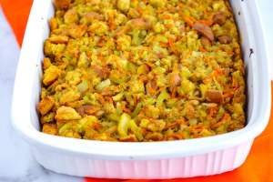 Large-batch stuffing recipe.