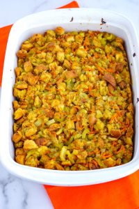 Overhead picture of stuffing.