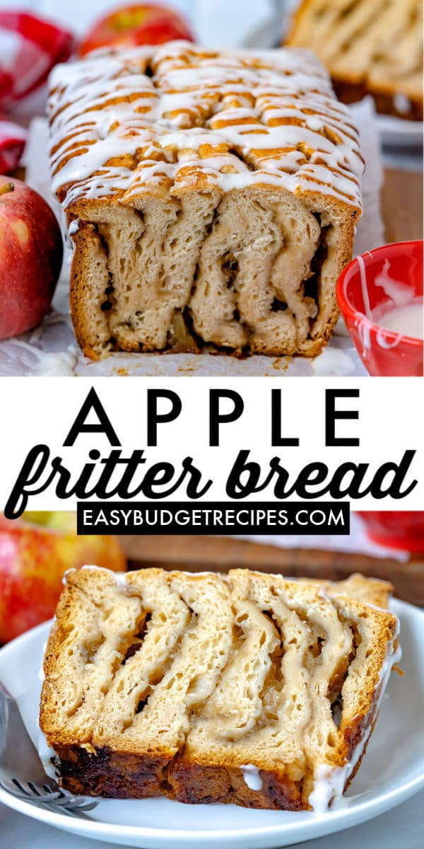 This Shortcut Apple Fritter Bread is a sweet and delightfully easy recipe that just screams fall! My kids love helping me make this easy and fun recipe. via @easybudgetrecipes