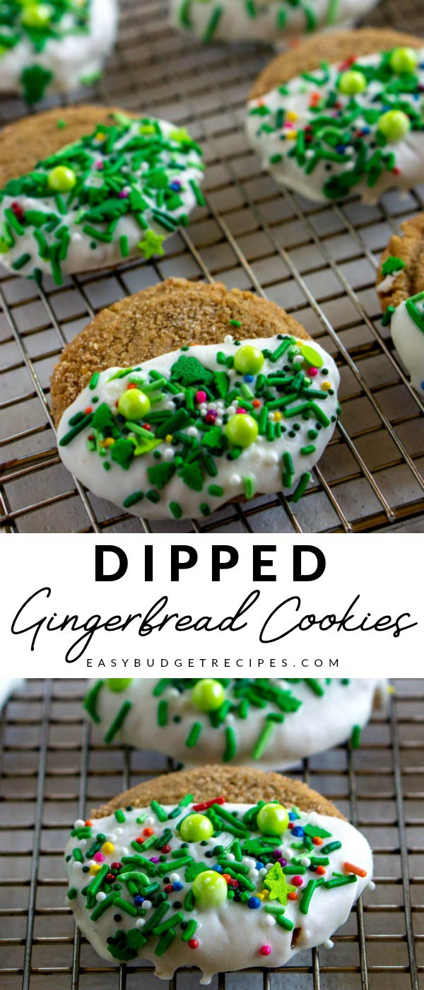This Dipped Gingerbread Cookies recipe is easy to make and so festive. It costs just $7.38 to make this recipe, that's just 31¢ per cookie! via @easybudgetrecipes