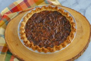 Bake until the pie is set. Cool the pie for 4 hours and then slice and serve.