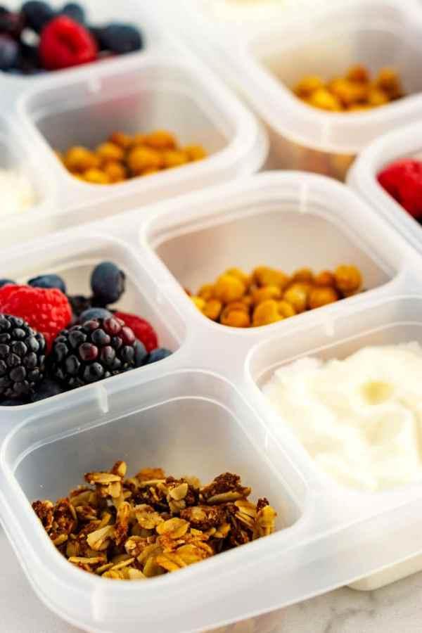 Close up picture of Yogurt Parfait Grad and Go Boxes.