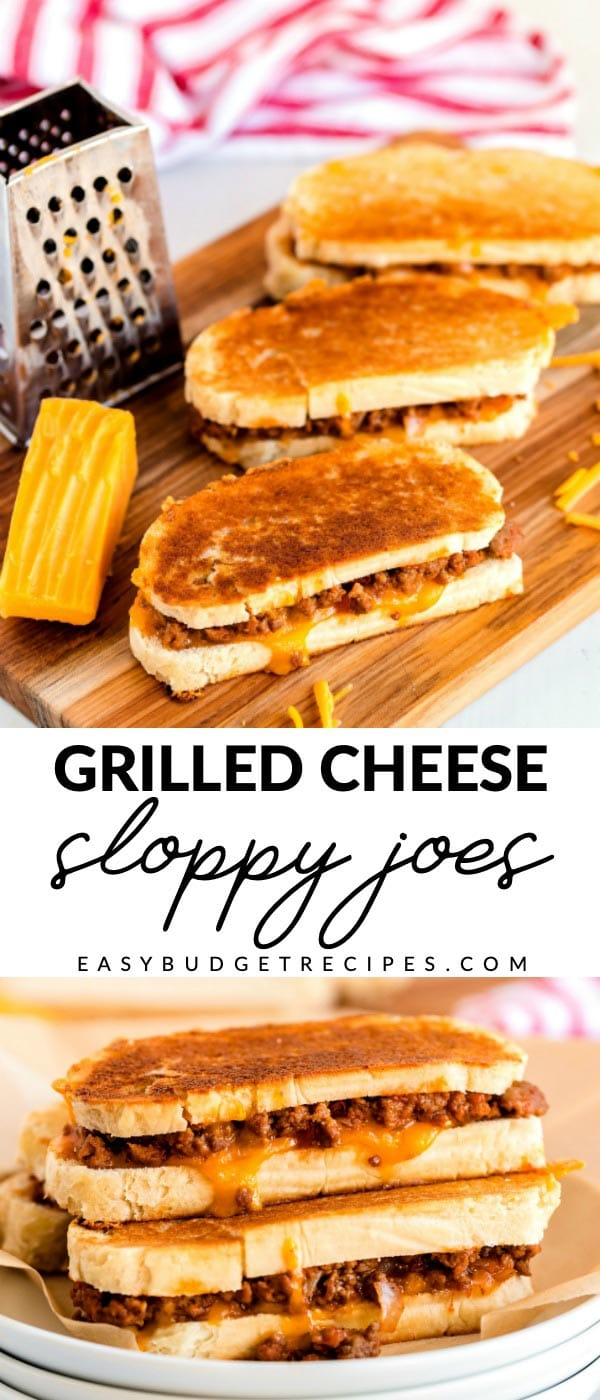 Grilled Cheese Sloppy Joes are what your comfort food dreams are made of! This recipe serves 6 and costs $6.65 to make. That's just $1.11 per serving! via @easybudgetrecipes