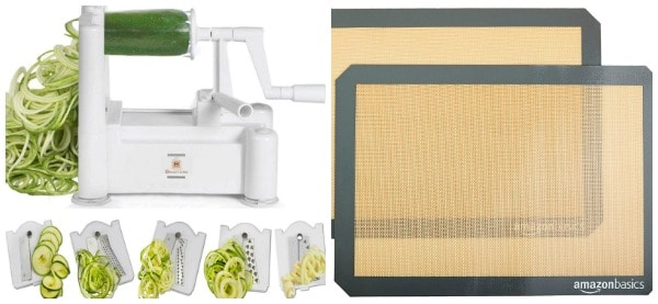 Picture collage of the kitchen tools we're giving away.