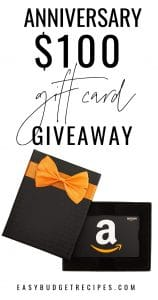 Image of an Amazon gift card with text overlay for social media.