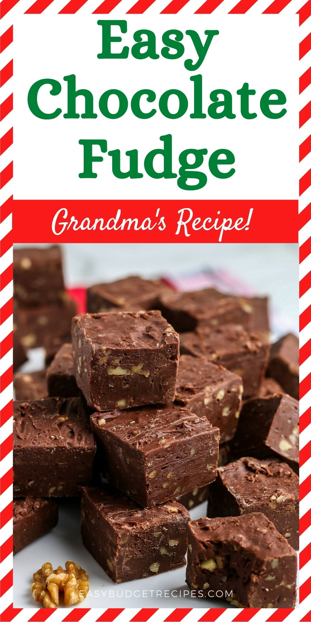 You only need 5 ingredients to make this super Easy Chocolate Fudge recipe. This classic holiday candy is always a favorite! via @easybudgetrecipes