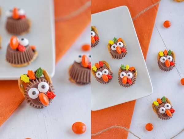 Turkey treats made with leaf candies.