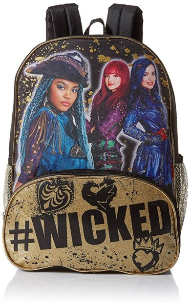 28a7cec12d7 This Disney Descendants 2 backpack comes with a zipper front pocket and two  mesh side pockets