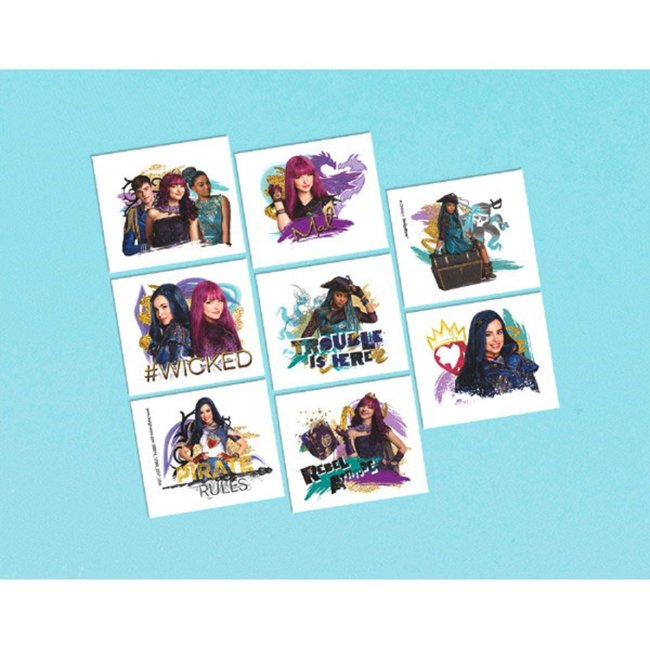 Disney Descendants 2 temporary tattoos party favor