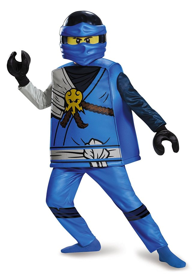 This LEGO Ninjago Deluxe Jay costume will be a hit this Halloween.