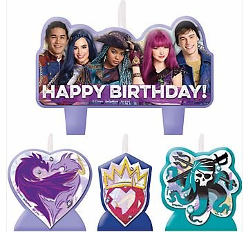 Disney Descendants 2 birthday candles set of 4