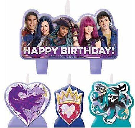 Disney Descendants 2 Birthday Candles Set Of 4