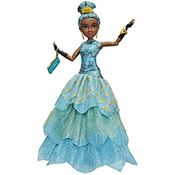 This Disney Descendants Uma doll features her in aher beautiful ballgown.