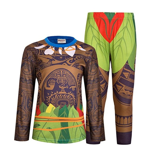 Disney Moana Maui pajamas for boys available in many sizes and both long and short sleeves