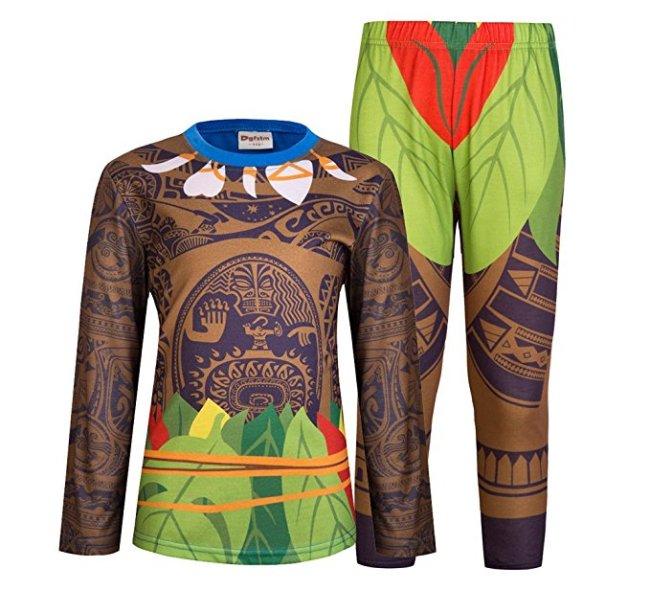 Disney Moana Maui pajamas for boys available in many sizes and both long and short sleeves