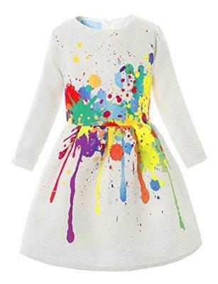 Disney Descendants 2 DIY DIzzy costume idea-a long sleeve splatter print dress
