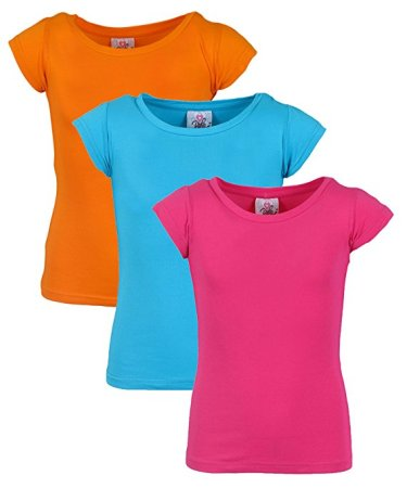 This 3 pack of crew neck shirts is a basic wardrobe staple and comes in different color combinations. It will work for your JoJo Siwa DIY Halloween costume.