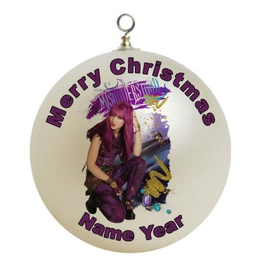 This Disney Descendants 2 Mal Christmas ornament can be personalized with your child's name and the year