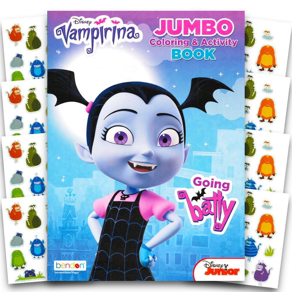 Disney Vampirina Coloring Book With Over 100 Monster