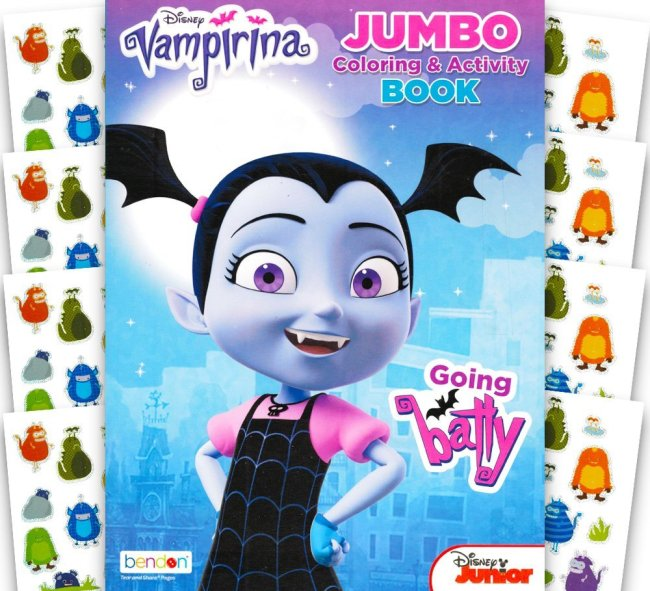 Disney Vampirina Coloring Book with Over 100 Monster Stickers