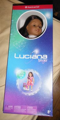 American Girl Doll of the Year 2018 is Luciana Vega. SHe loves science and wants to be the first person to land on Mars.