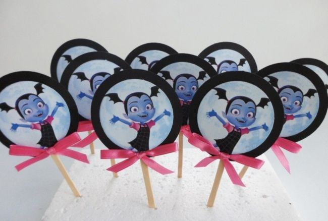 Vampirina cupcake toppers set of 12 for your Vampirina themed party