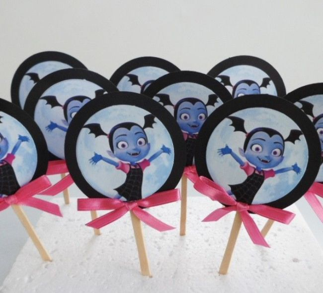 Vampirina cupcake toppers set of 12 for your Vampirina themed party