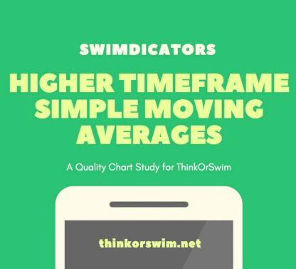 multiple higher timeframe simple moving averages study for thinkorswim