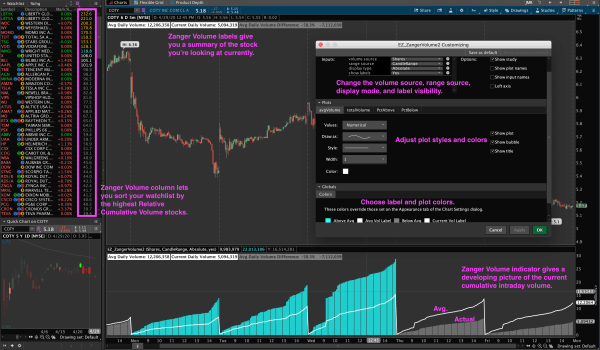 Zanger Volume Indicator for Thinkorswim