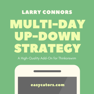 thinkorswim larry connors cumulative multi day up down trading strategy