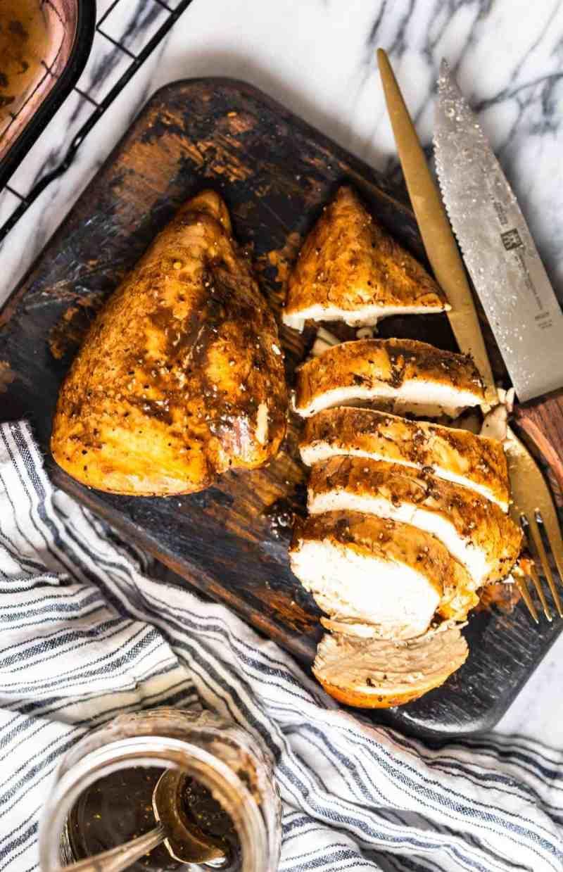 Sliced Marinated Lemon Pepper Chicken baked chicken