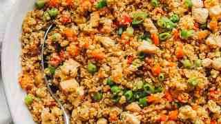 Quinoa Chicken Fried Rice (Quinoa Fried Rice Recipe)