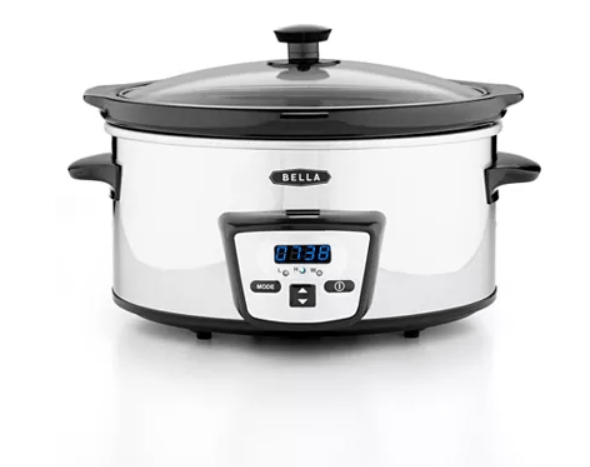 Macy's: Bella 13973 5 Qt. Programmable Polished Stainless Steel Slow Cooker $9.99 after mail in rebate