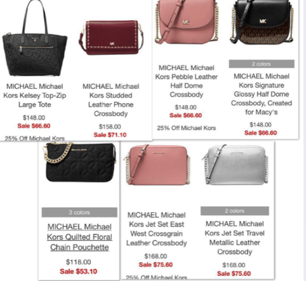 Macy's: Michael Kors Handbag Sale