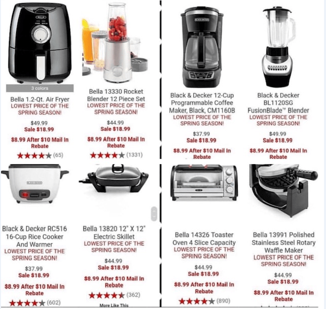 Macy's: Bella/Black & Decker Small Appliances – $8.99 After Mail-In Rebate