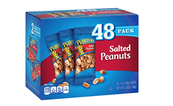 Amazon: Planters Salted Peanuts – 48 Pack – $7.48