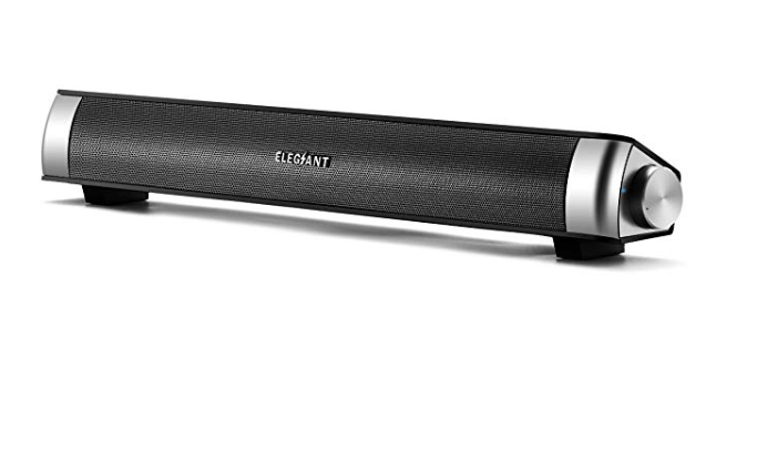 Amazon: ELEGIANT USB Powered Sound Bar Speakers for Computer Desktop Laptop PC, Black – $17.39