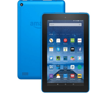 Itech Deals – Amazon Fire Tablet with Alexa 7″ Display 8GB 5th Gen in Blue (REFURBISHED)- $29.99
