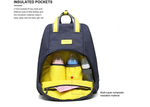 Amazon: Baby Diaper Bag Organizer Backpack,WalkingToSky Unisex Waterproof Fashion Travel Backpack Maternity Baby Nappy Changing Bags for Daddy and Mom(Blue) – $14.49
