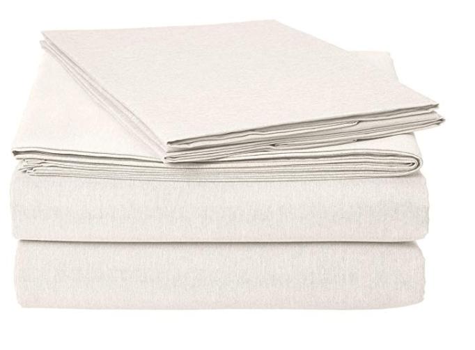 Amazon: AmazonBasics Chambray Sheet Set – King, Soft Grey – $10.99