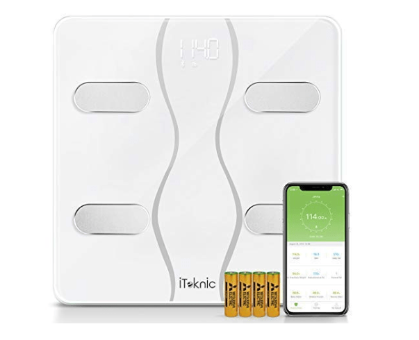 Amazon: iTeknic Bluetooth Body Fat Scale, Smart BMI Weight Scale Digital Body Composition Analyzer with iOS and Android APP – $9.99